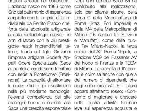 Saos Srl, investimenti e passione conquistano il mercato in tutta Italia – Il sole 24 ore